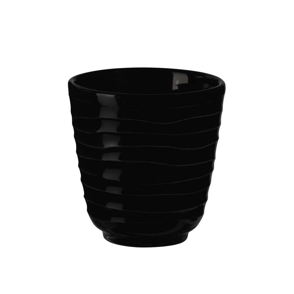 Tasse à expresso noire 0,75cl