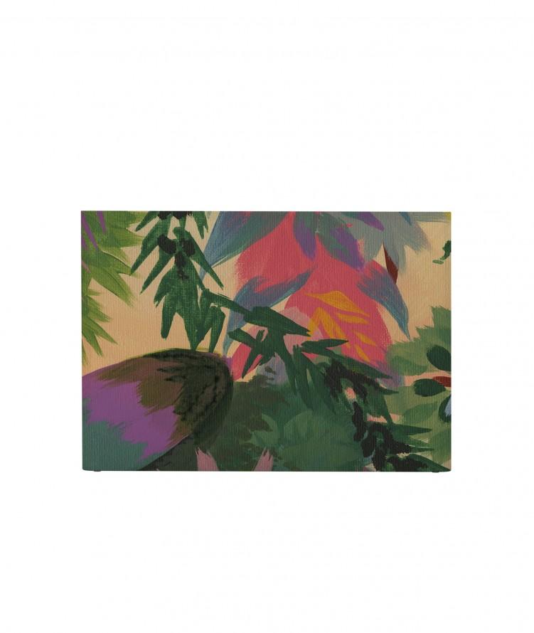 Tête de lit avec housse Multicolore 140 cm