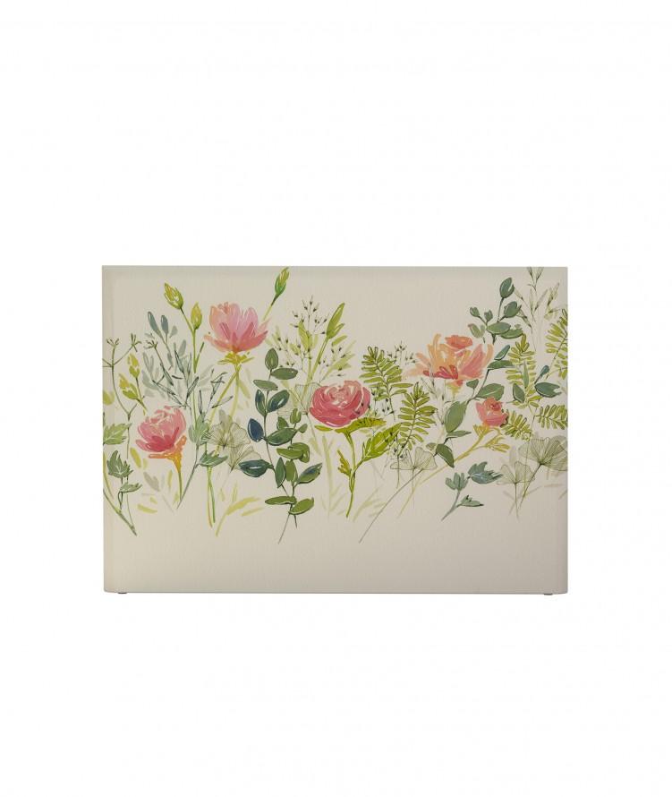 Tête de lit avec housse Rose 140 cm