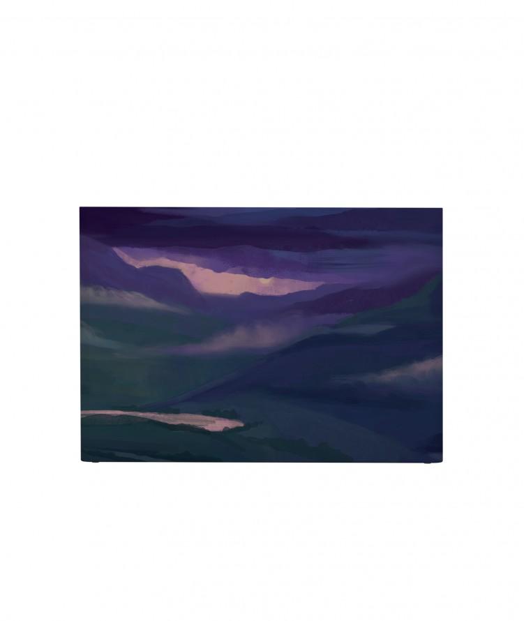 Tête de lit avec housse Violet 140 cm