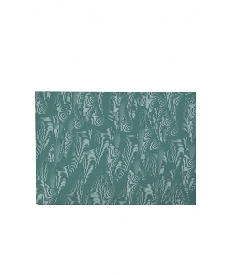 Tête de lit avec housse Vert 140 cm