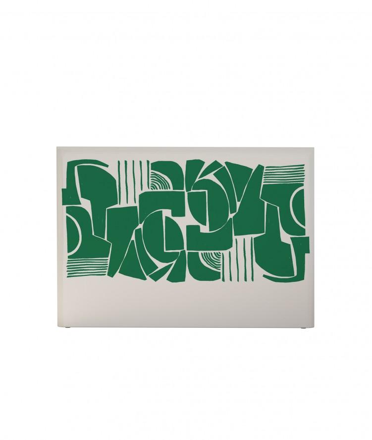 Tête de lit avec housse Vert 160 cm