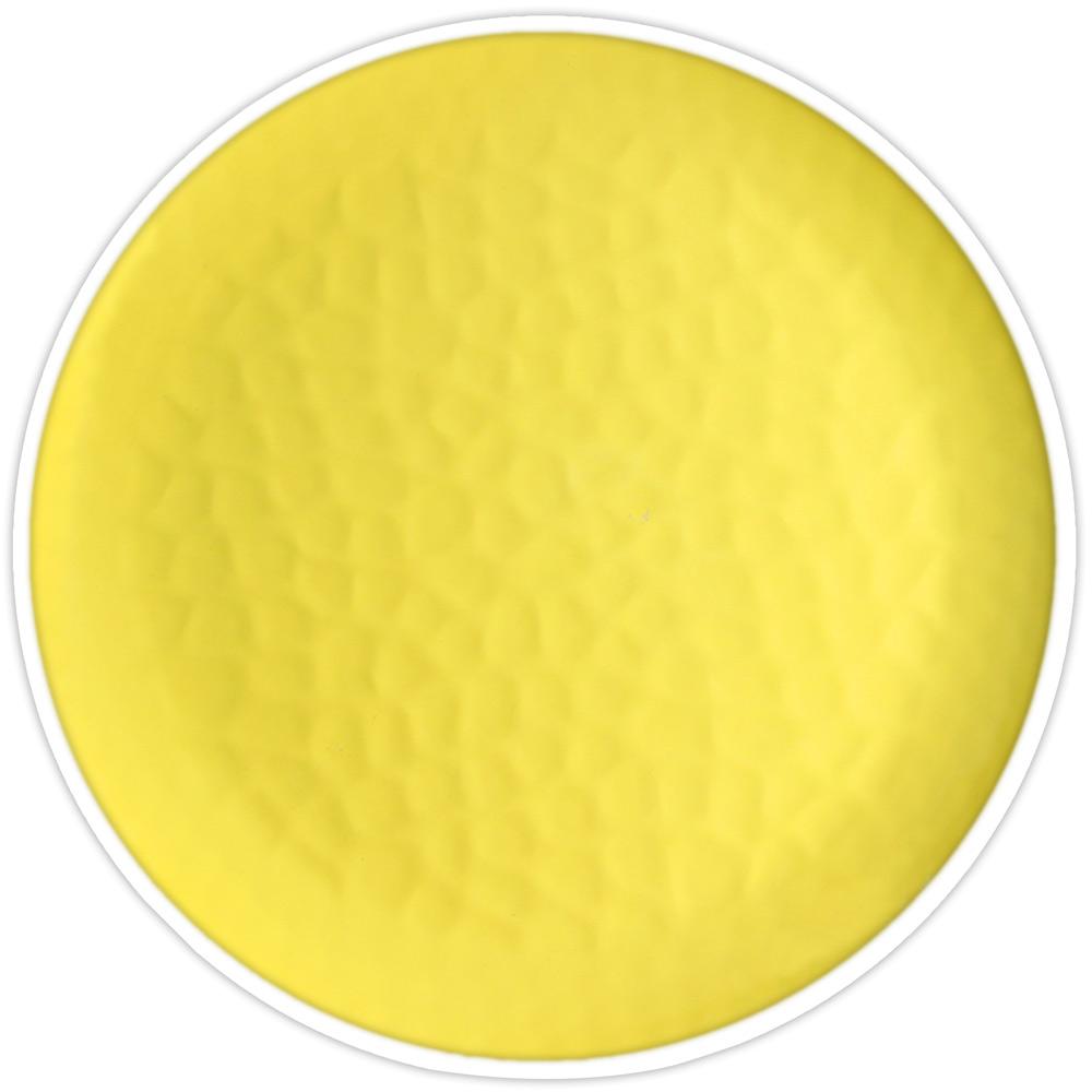 Assiette à dessert jaune 23 cm - Lot de 2