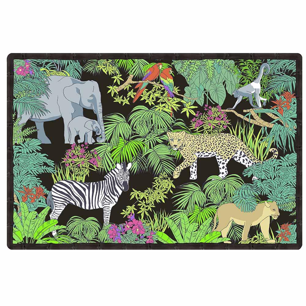 Set de table (45 x 30 cm) avec un imprimé jungle - Lot de 6