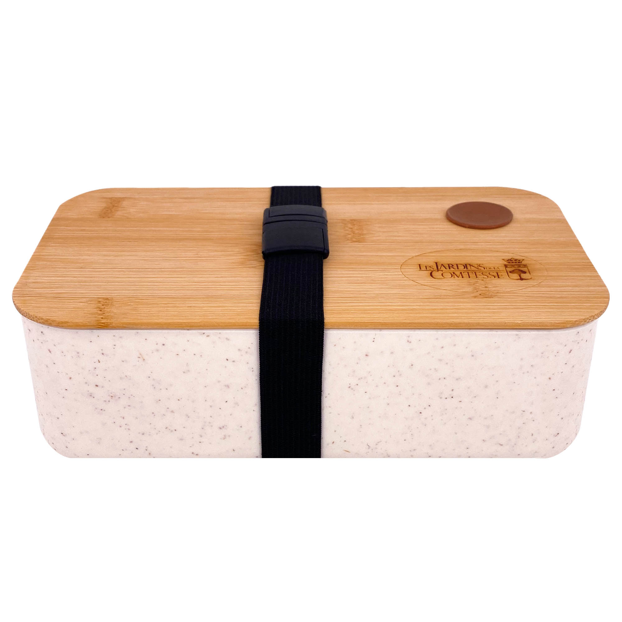 Lunchbox en fibre de blé et couvercle bambou hermétique