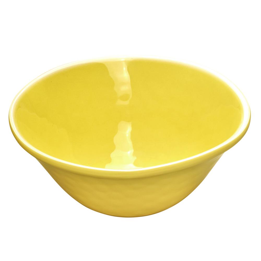 Bol en mélamine jaune Ø 17 cm - Lot de 2