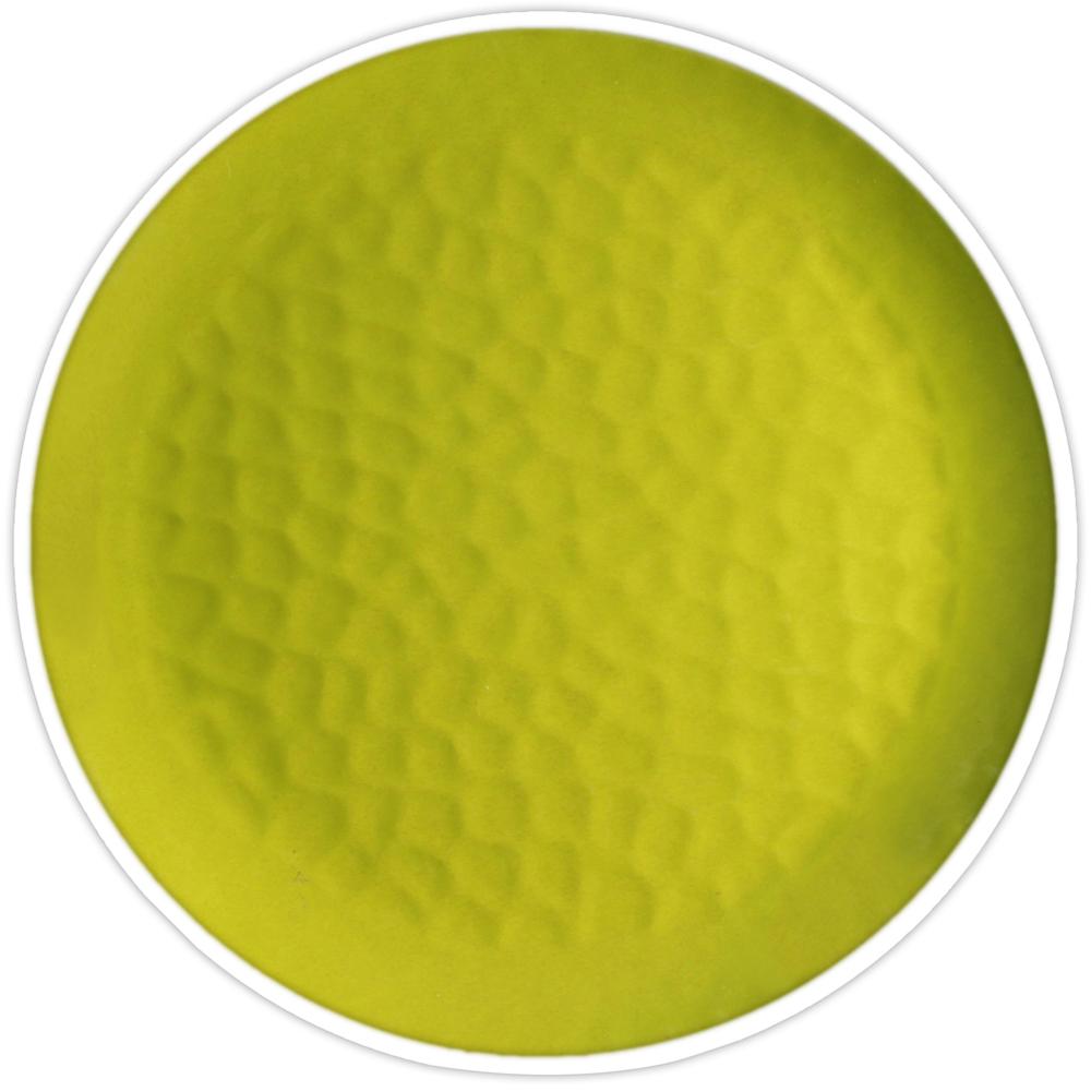 Grande assiette verte Ø 27 cm - Lot de 2