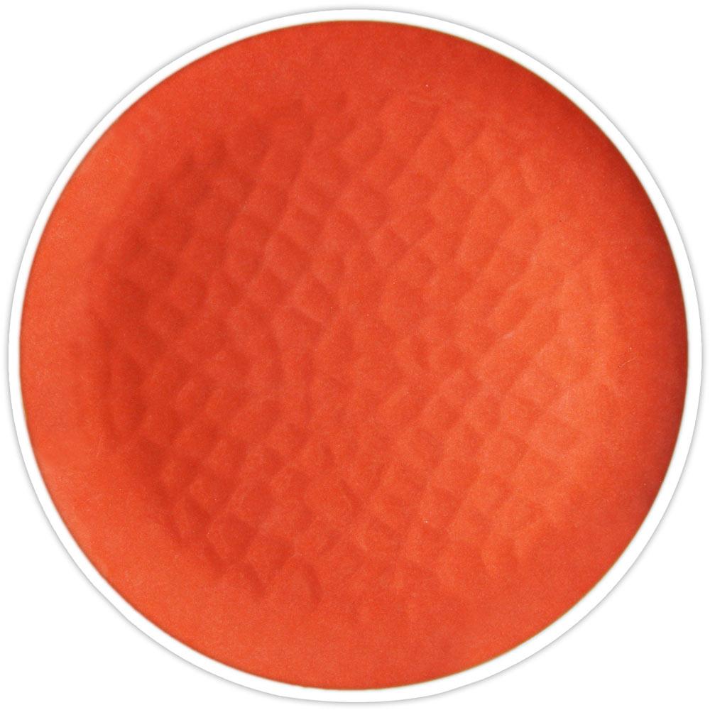 Grande assiette rouge corail 27 cm - Lot de 2