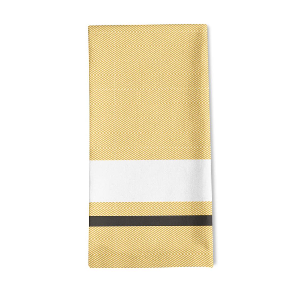 Serviette de table jaune 50x50