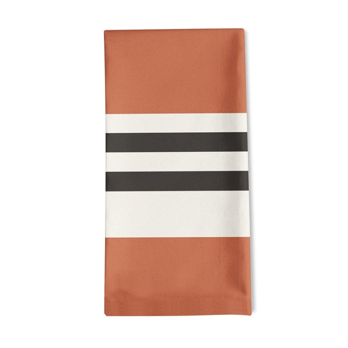 Serviette de table orange 50x50