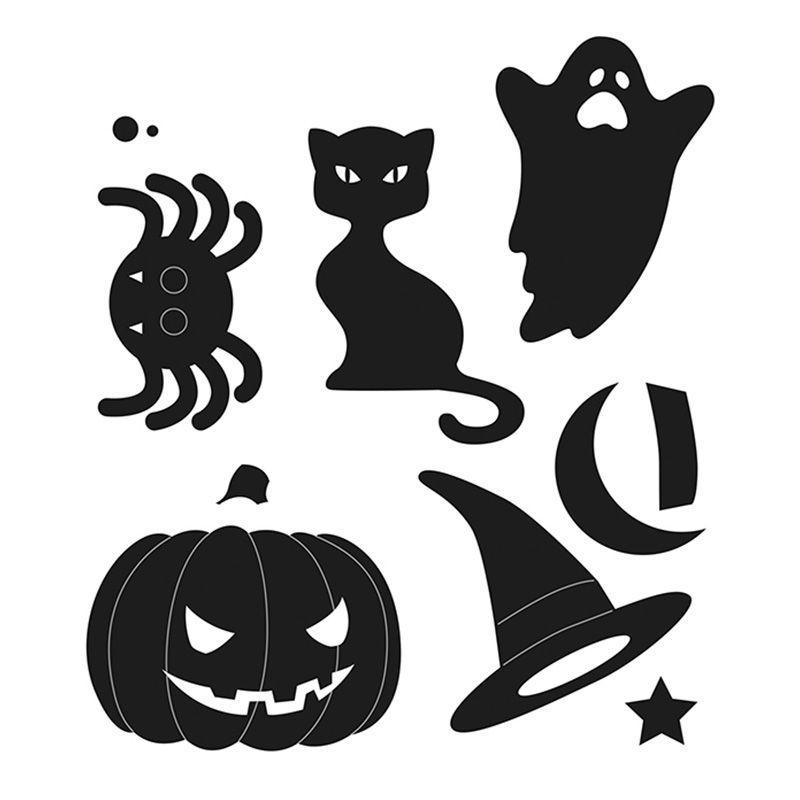 7 matrices de découpe et d'embossage Halloween