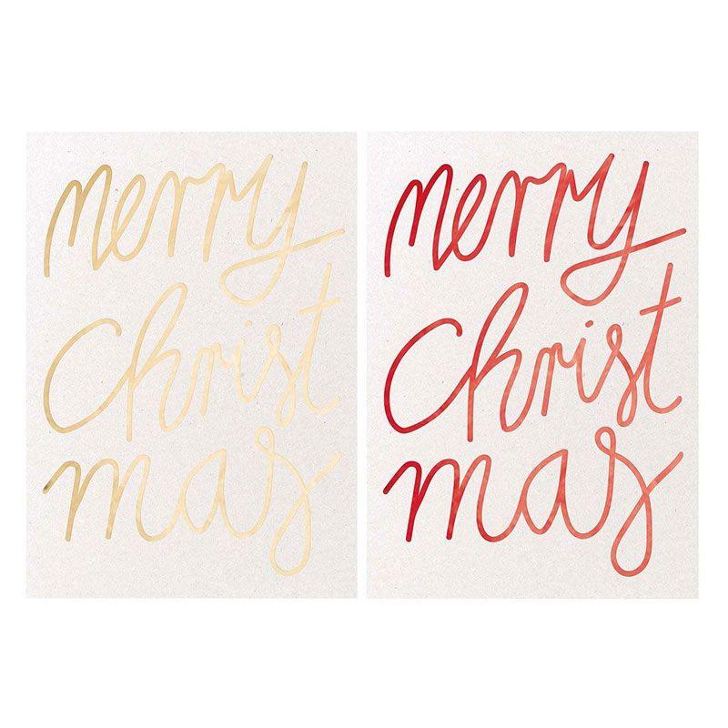 2 cartes postales Merry Christmas