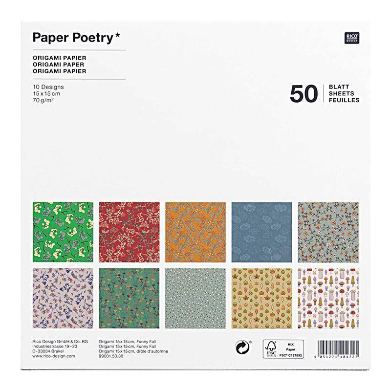50 feuilles de papier d'origami