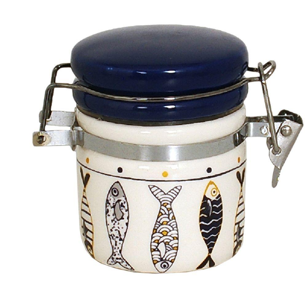 Boîte à gros sel hermétique en céramique avec cuillère