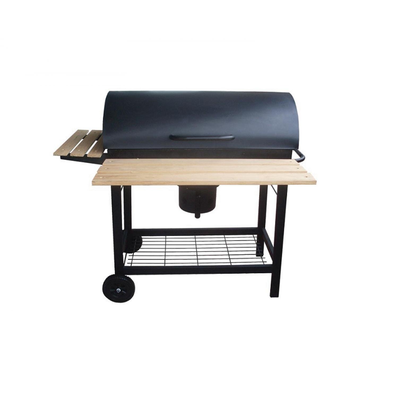 Barbecue et fumoir mobile au charbon de bois