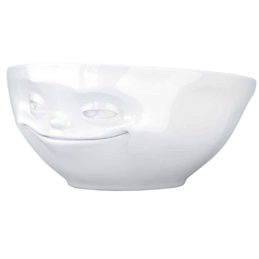 Bol en porcelaine blanche Grinning 350ml