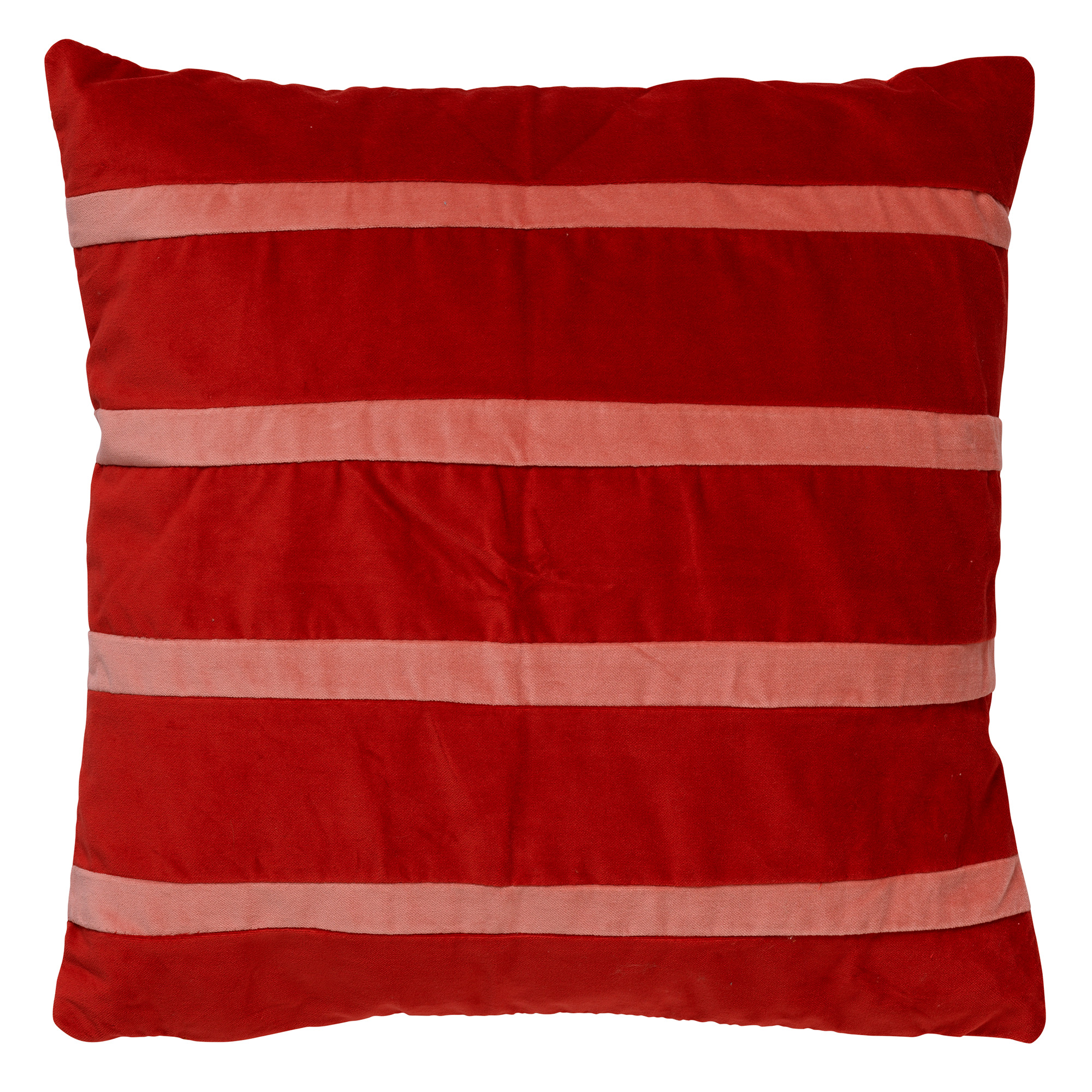 Housse de coussin en velours Rouge vif 45x45