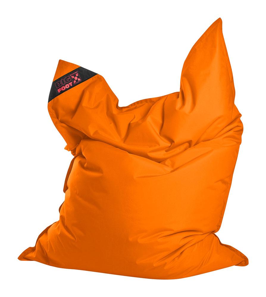 Coussin géant en polyester imperméable orange