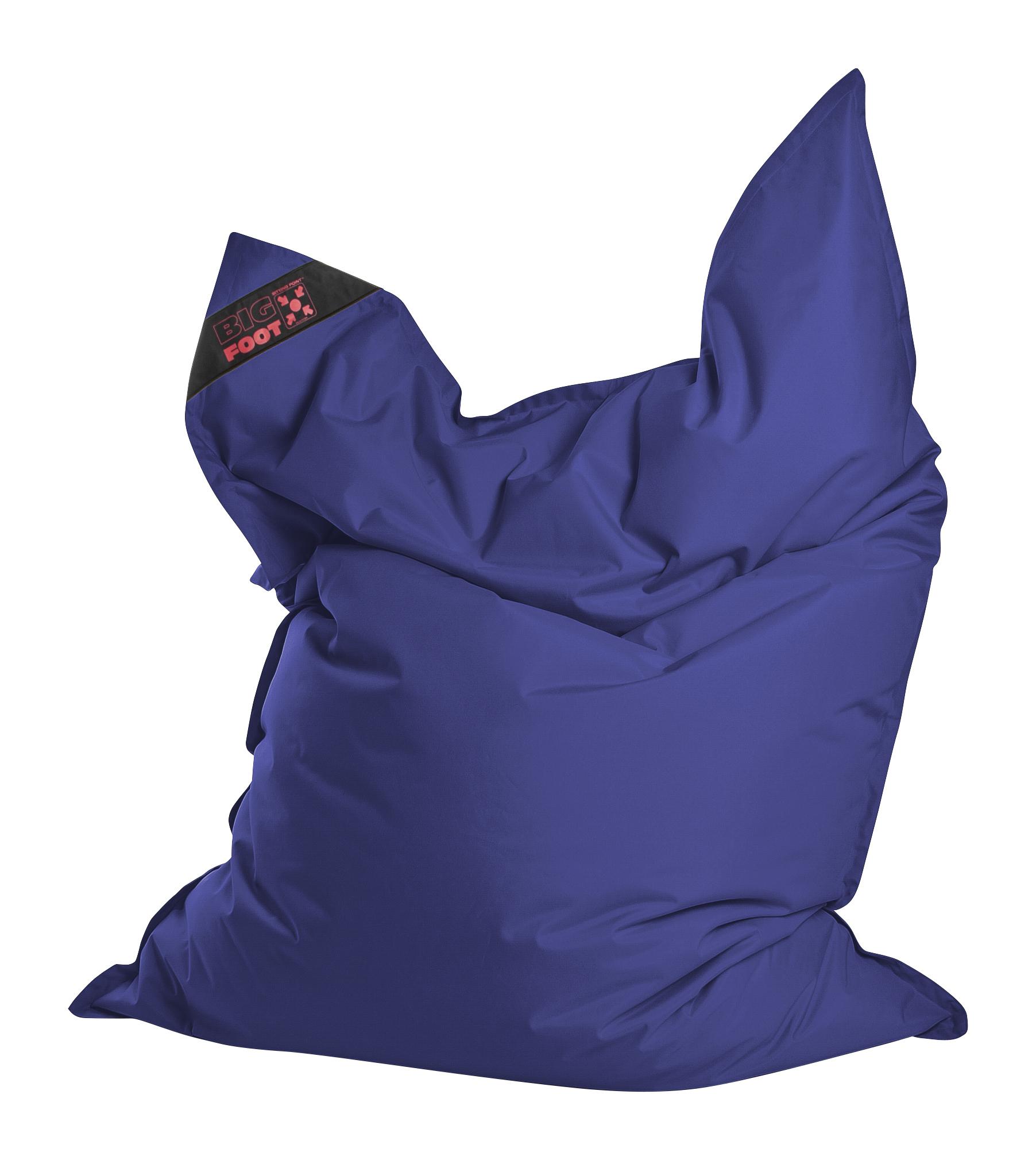 Coussin géant en polyester imperméable bleu
