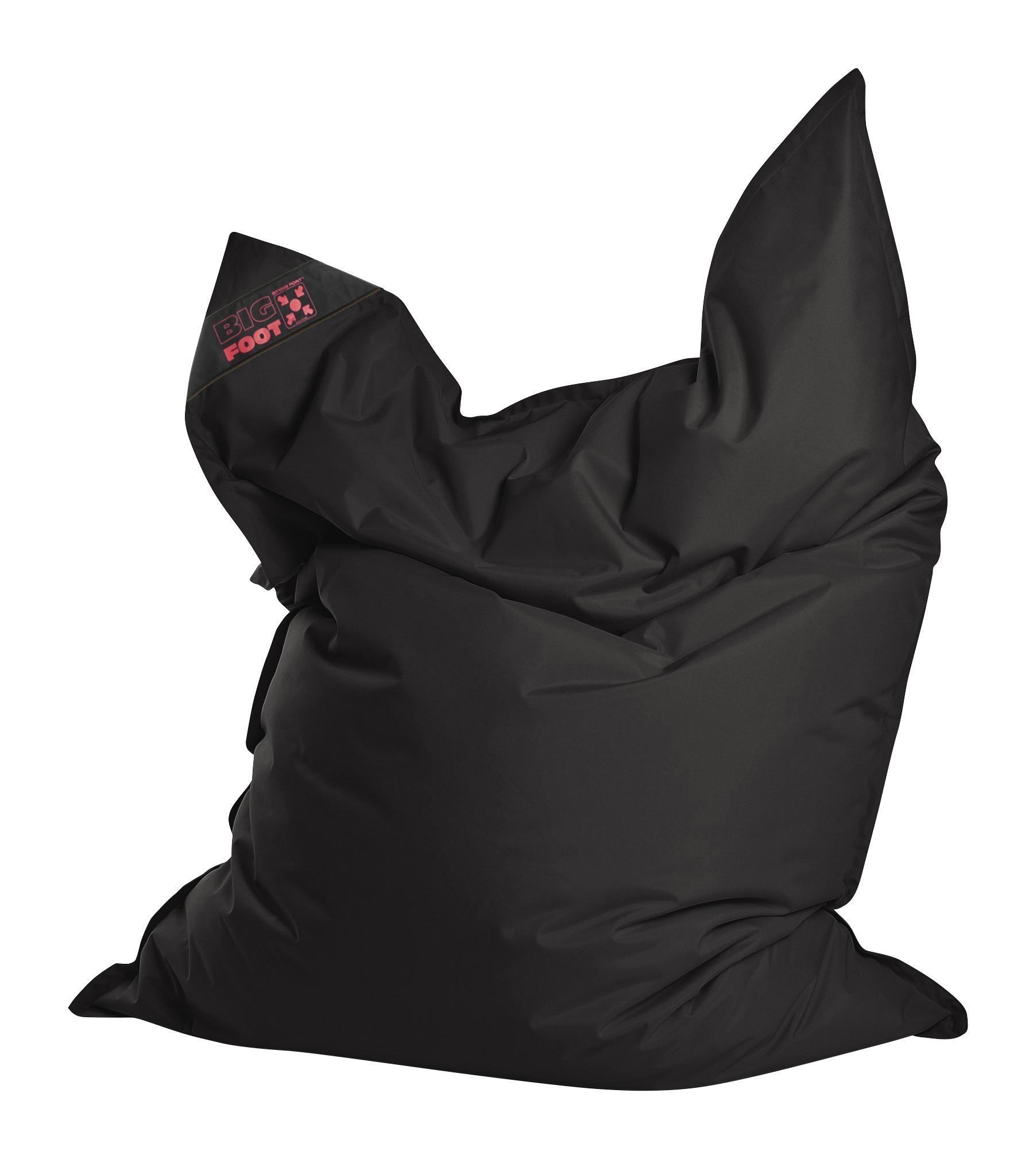 Coussin géant en polyester imperméable noir