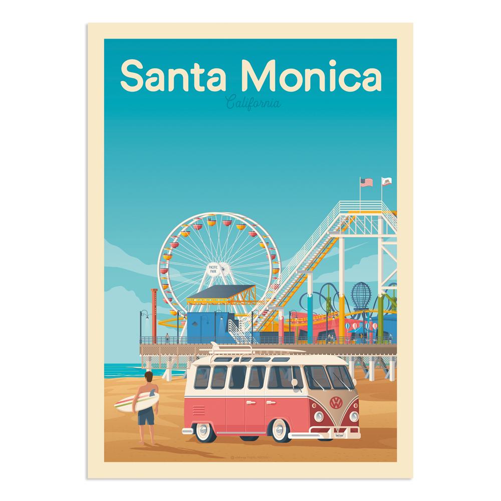 Affiche Santa Monica  30x40 cm