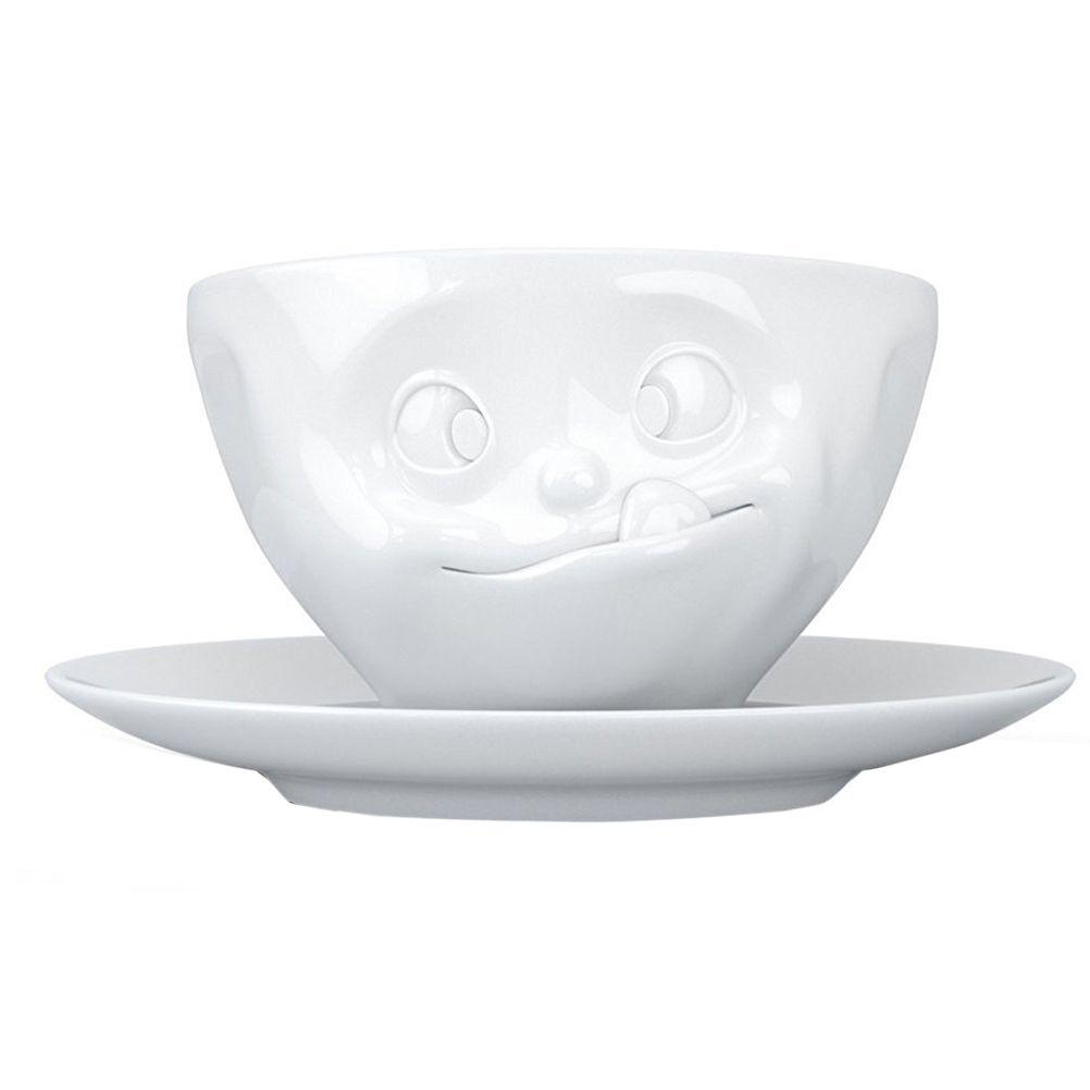 Tasse et sous tasse délicieux en porcelaine 200ml