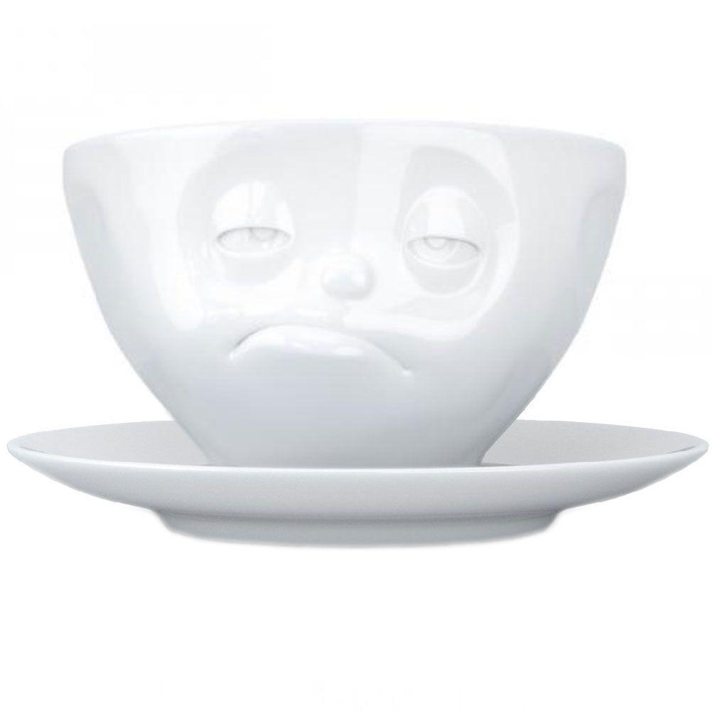 Tasse et sous tasse somnolent en porcelaine 200ml