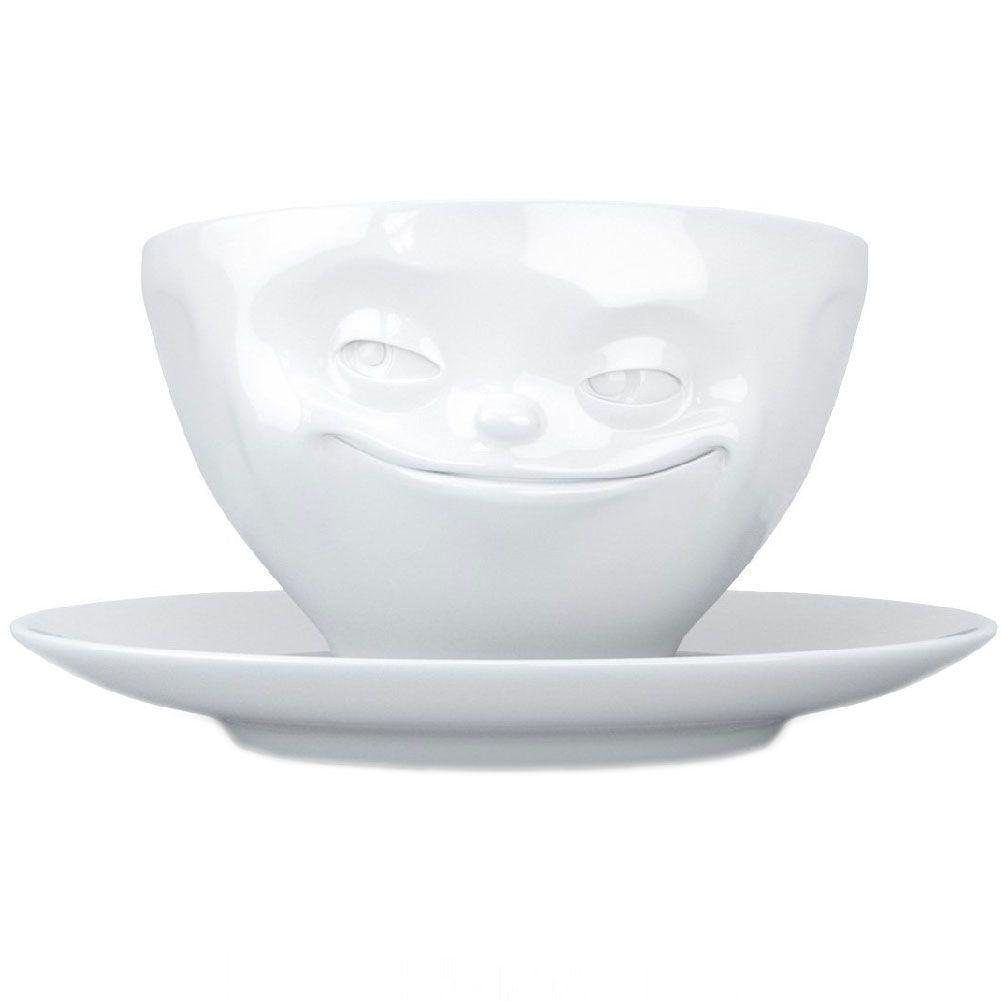 Tasse et sous tasse humeur en porcelaine 200ml