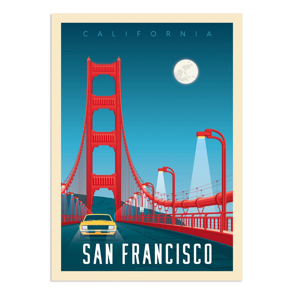 Affiche San Francisco Golden Gate  50x70 cm