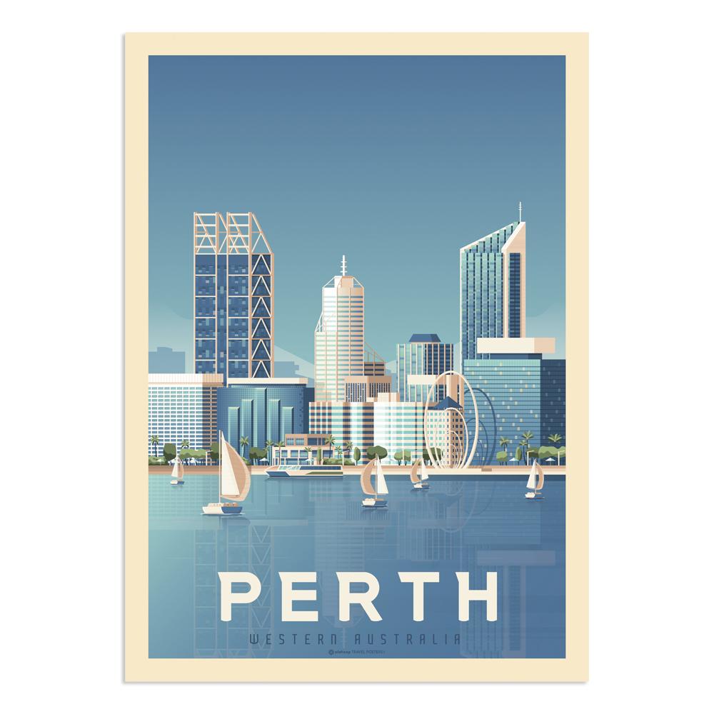 Affiche Perth  50x70 cm