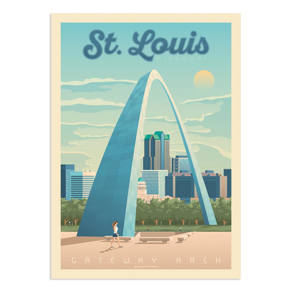 Affiche Saint-Louis  30x40 cm