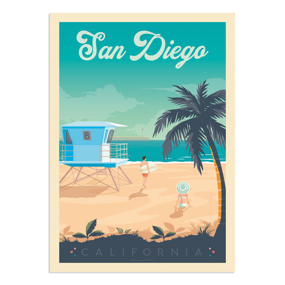 Affiche San Diego  30x40 cm