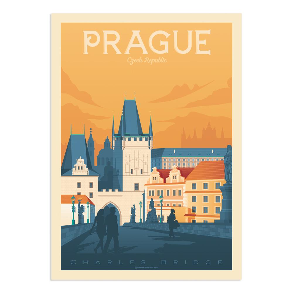 Affiche Prague  50x70 cm