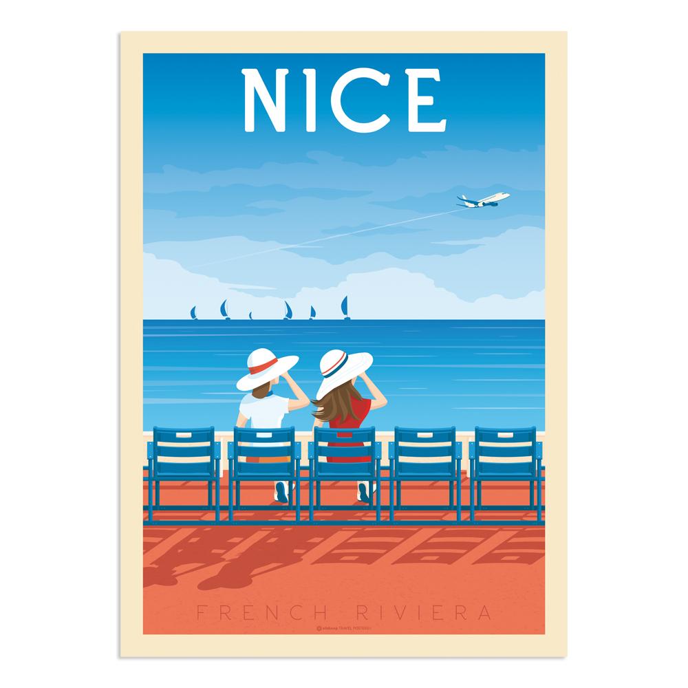 Affiche Nice 30x40 cm