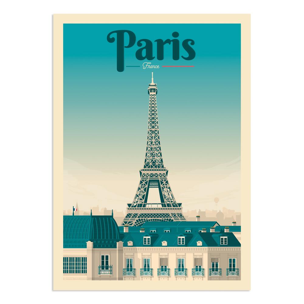 Affiche Paris 30x40 cm