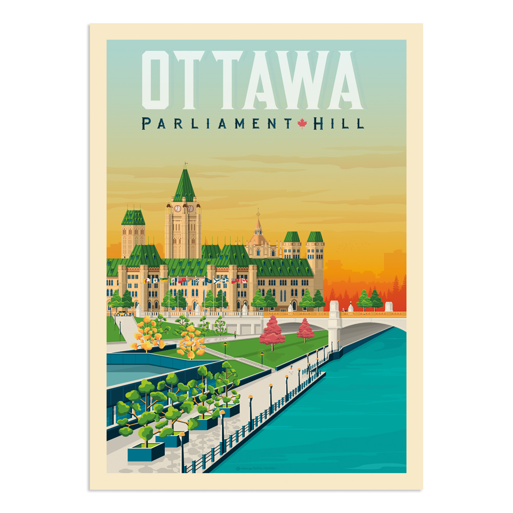 Affiche Ottawa 50x70 cm
