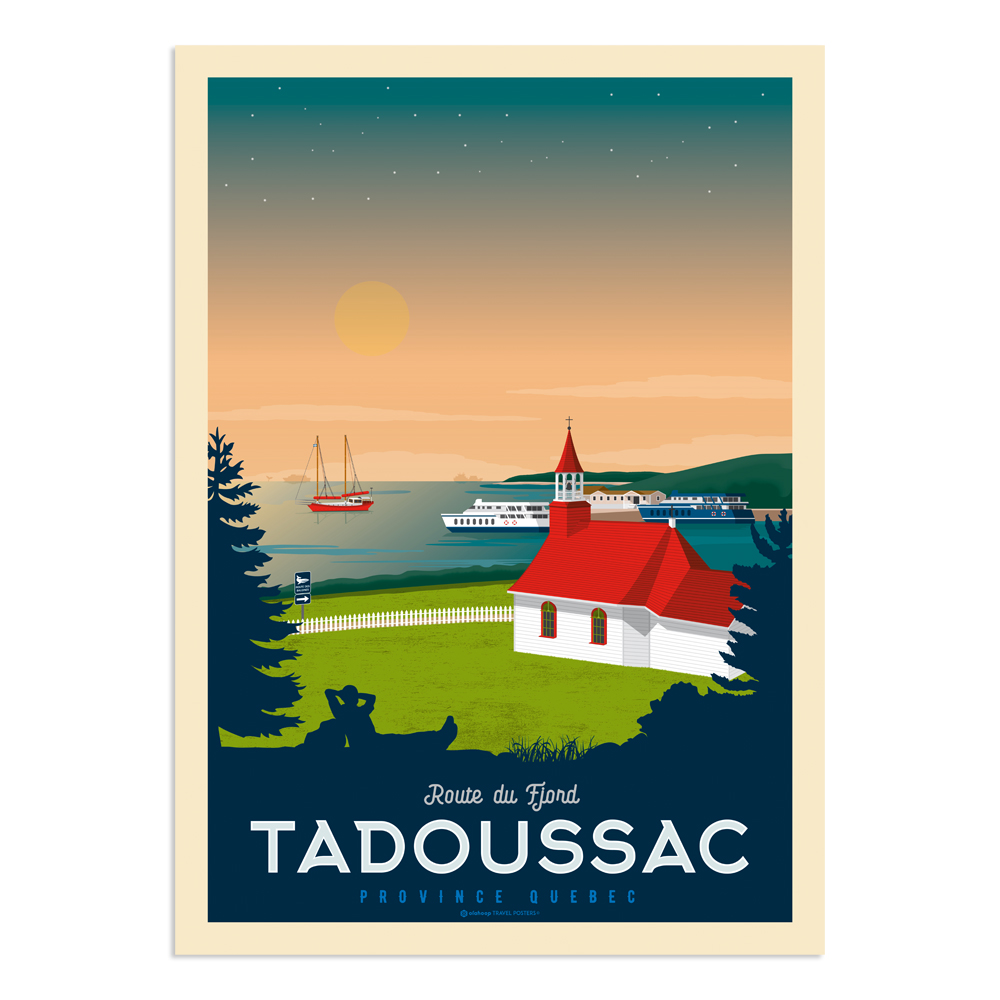 Affiche Tadoussac  50x70 cm