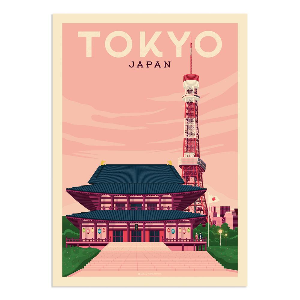 Affiche Tokyo  50x70 cm