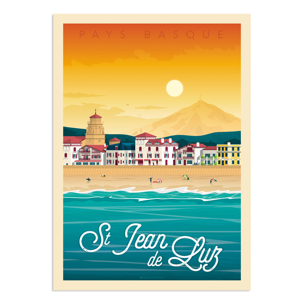 Affiche Saint-Jean-de-Luz  30x40 cm