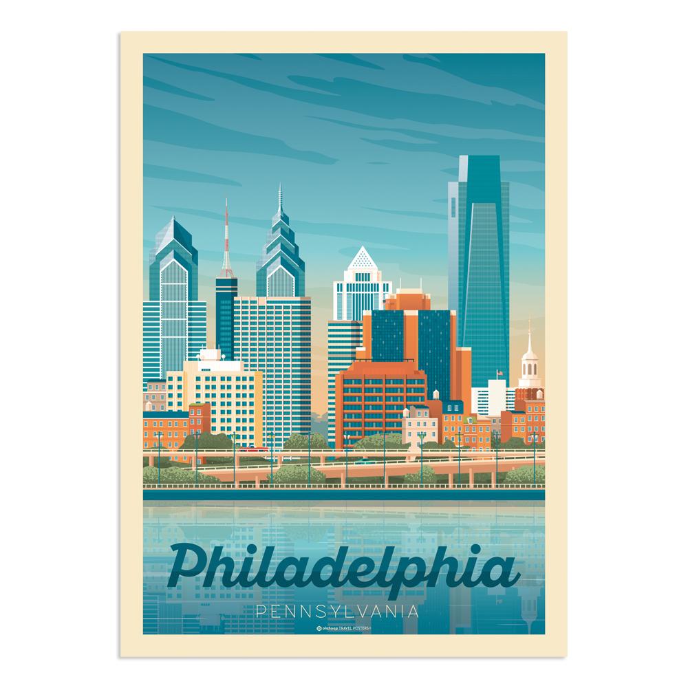 Affiche Philadelphie  30x40 cm
