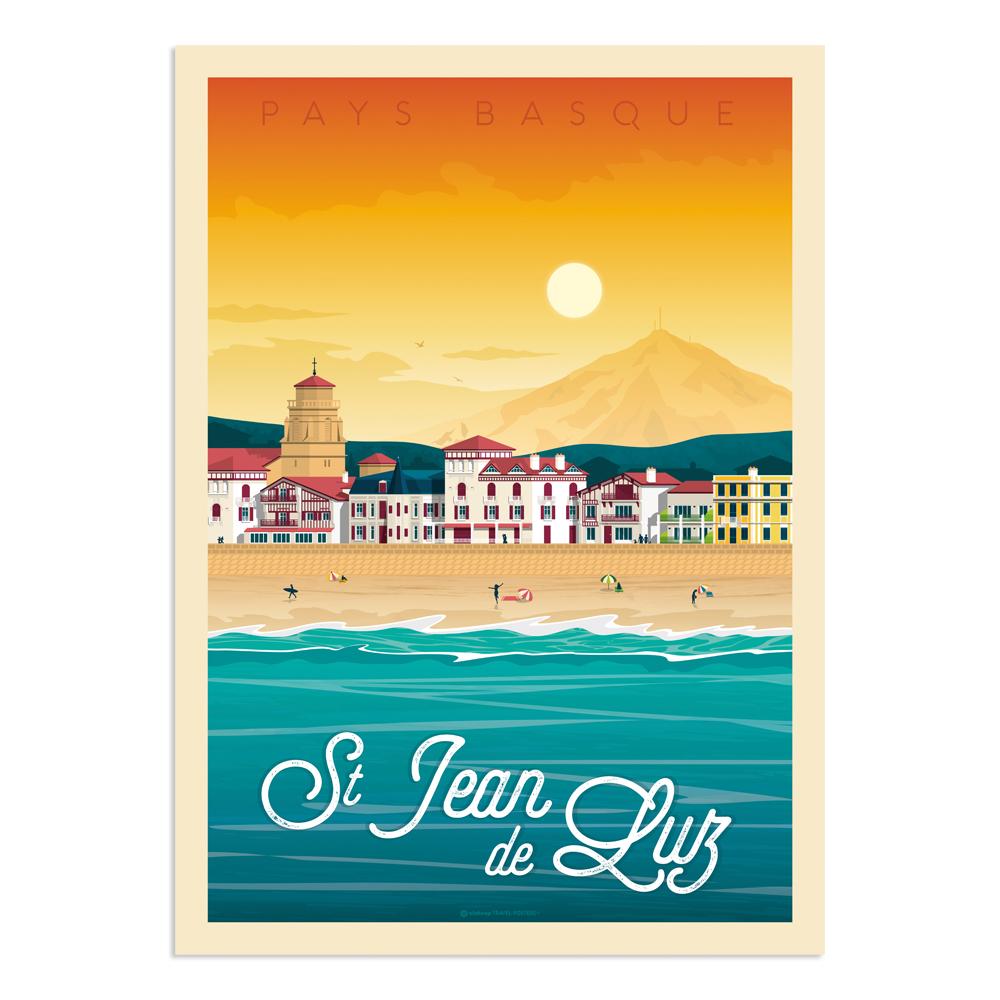 Affiche Saint-Jean-de-Luz  50x70 cm