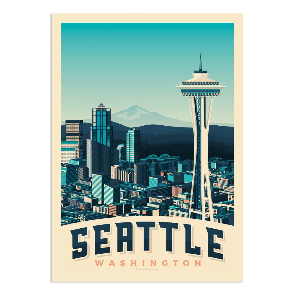 Affiche Seattle  30x40 cm