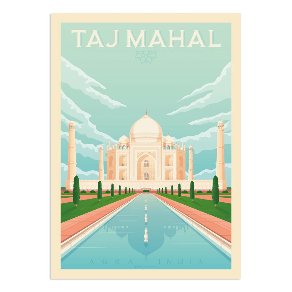 Affiche Taj Mahal  30x40 cm