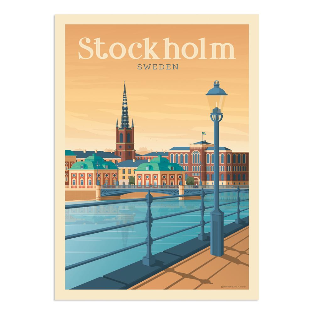 Affiche Stockholm  30x40 cm