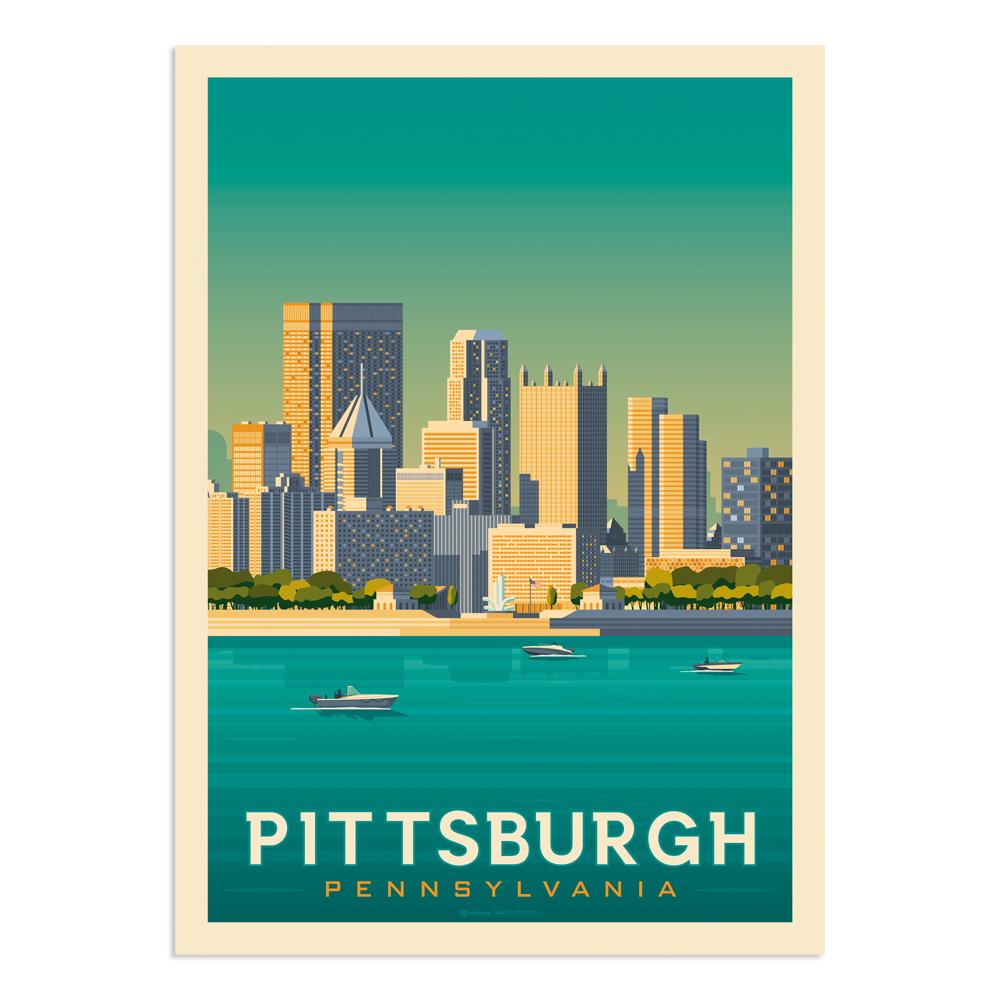 Affiche Pittsburgh  30x40 cm