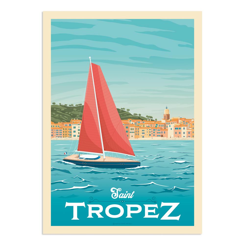Affiche Saint-Tropez  50x70 cm