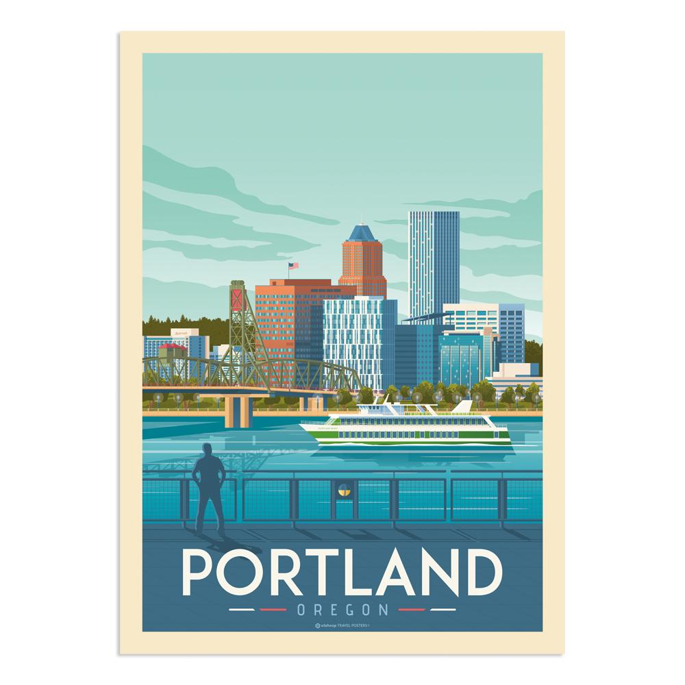Affiche Portland  30x40 cm