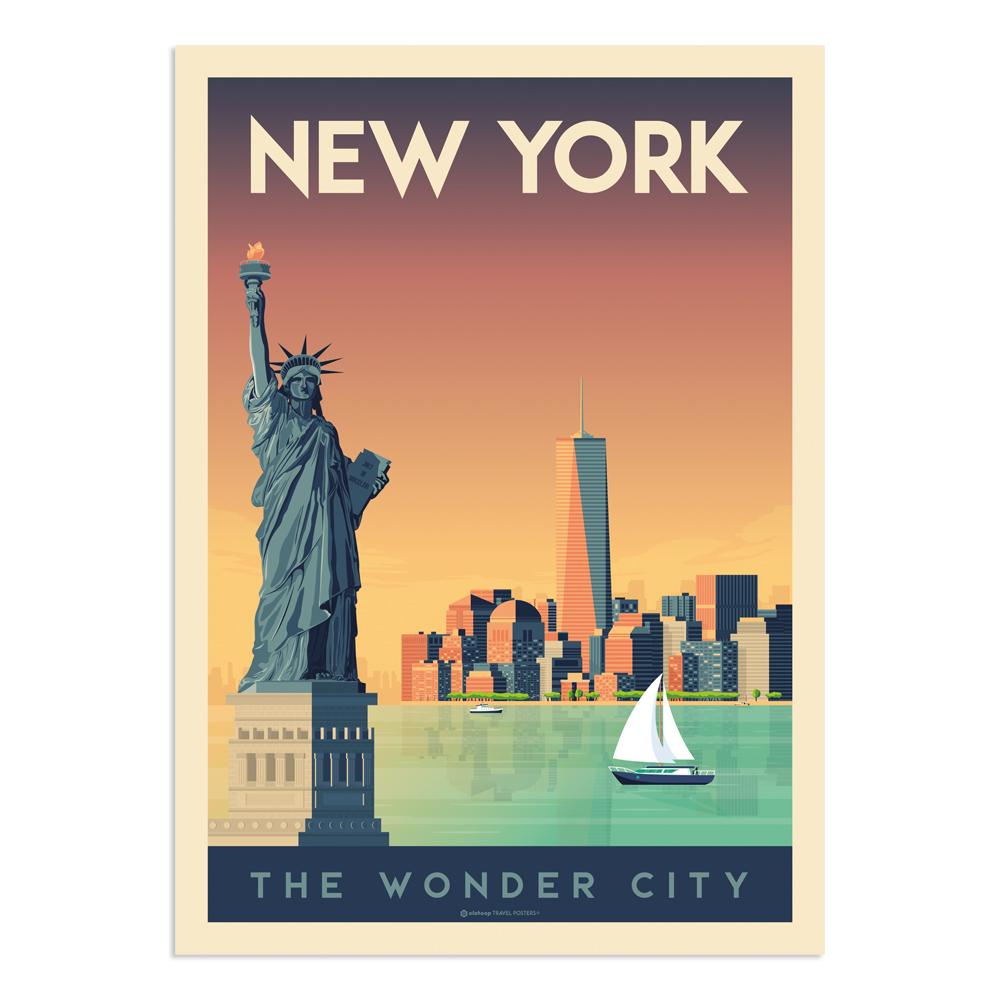 Affiche New York  21x29,7 cm