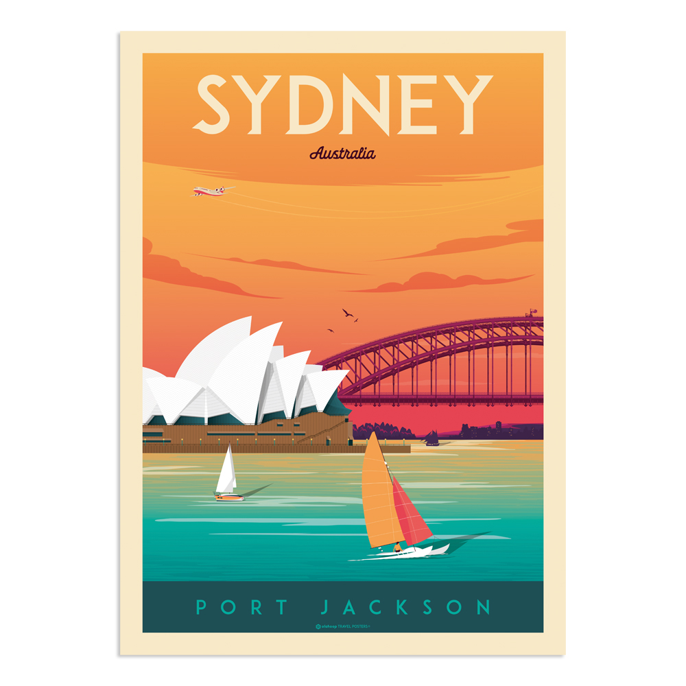 Affiche Sydney  50x70 cm