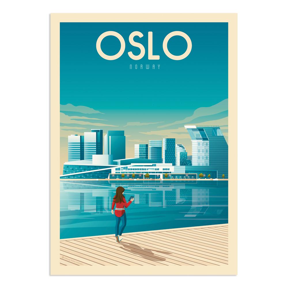 Affiche Oslo  21x29,7 cm
